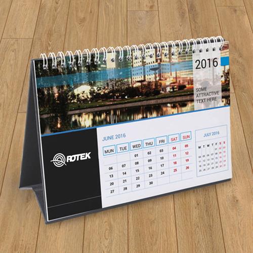 13 Page Desktop Spiral Bound Calendar Image 4
