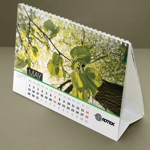 13 Page Desktop Spiral Bound Calendar Image 5