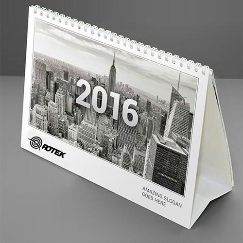 13 Page Desktop Spiral Bound Calendar Image 6
