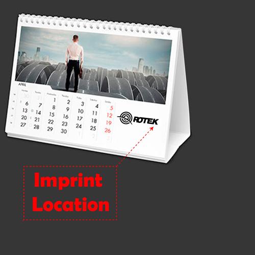 13 Page Desktop Spiral Bound Calendar Imprint Image