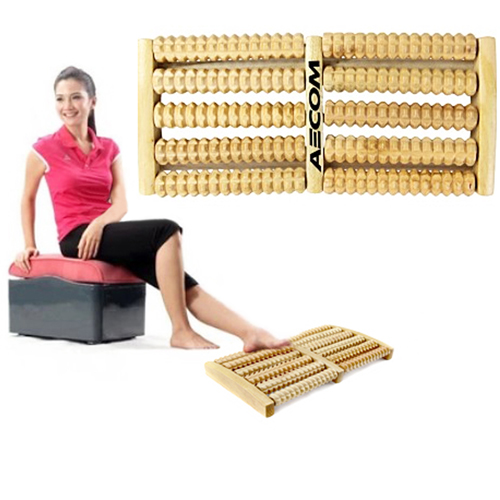 Dual Roller Wooden Foot Massager