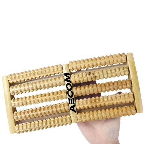 Dual Roller Wooden Foot Massager