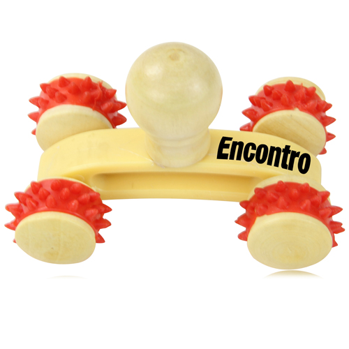Rolling Wheels Wooden Massager Image 9