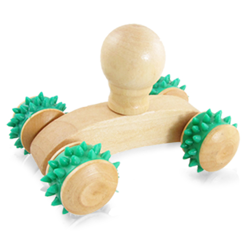 Rolling Wheels Wooden Massager