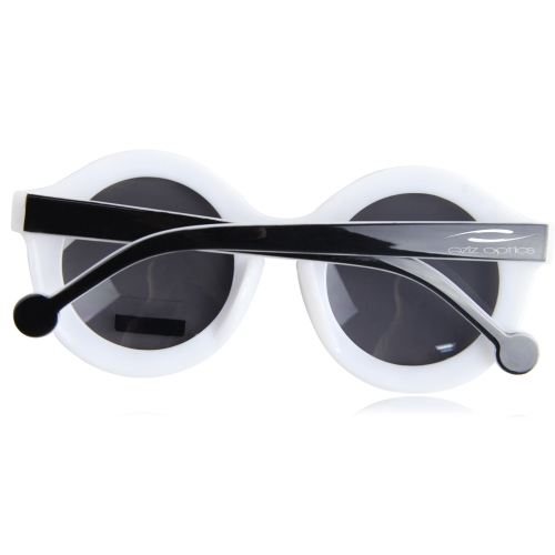 Striped Round Bold Rim Sunglass