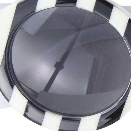 Striped Round Bold Rim Sunglass
