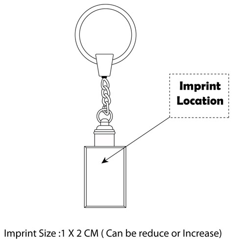 Crystal Keychain Imprint Image