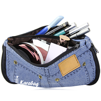 Jeans Pocket Style Canvas Cosmetic Bag