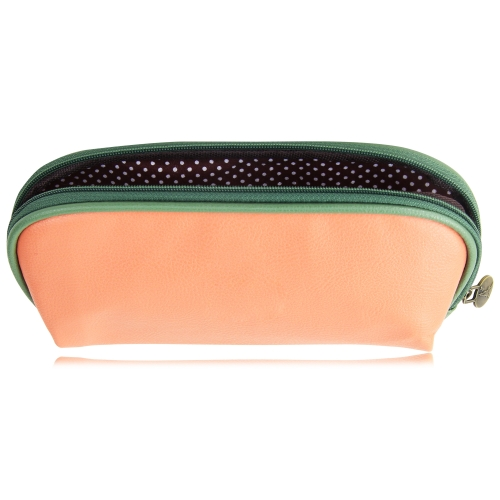 Fashion Soft Leather Cosmetic Bag Image 5