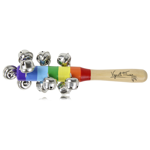 Wooden Jingle Bell Rattles Stick Image 1