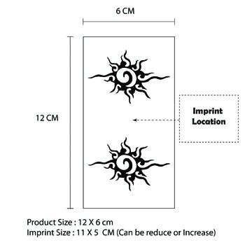 12 x 6 cm Custom Design Tattoo