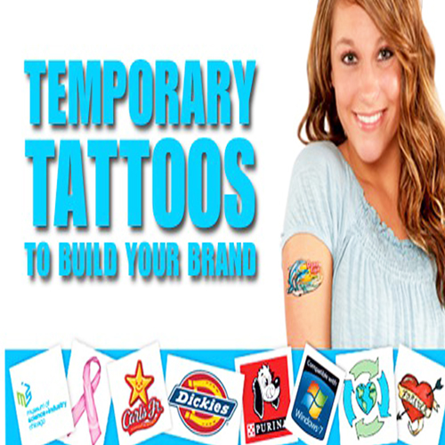 Custom Shaped Temporary Skin Tattoo - 11 x 3cm