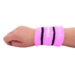 Stripe Terry Wristband With Pocket