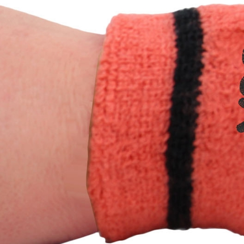 Stripe Terry Wristband With Pocket