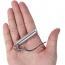 Aluminum Whistle With Key Ring