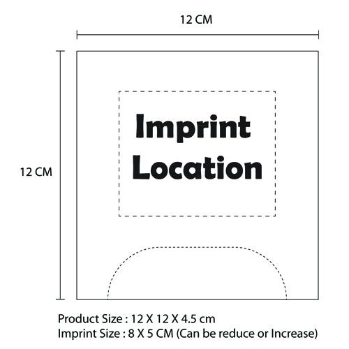 80 Dry Sanitary Tissue Paper Imprint Image