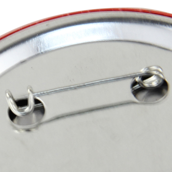 6.5CM Circle Tin Badge With Safety Pin