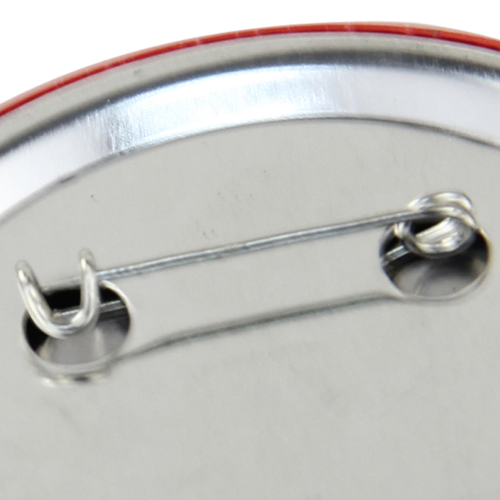 6.5CM Circle Tin Badge With Safety Pin