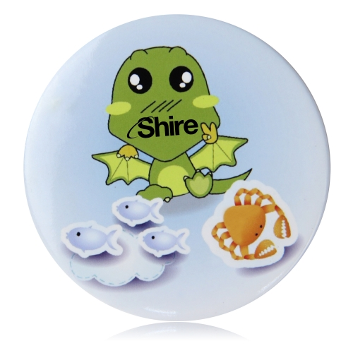 6.5CM Tin Button Badge With Pin Image 4