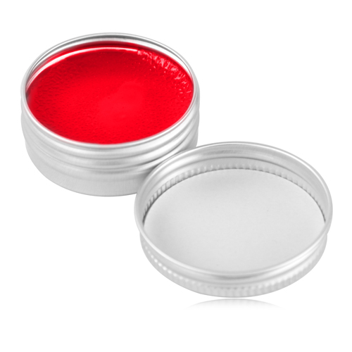 Lip Balm In Round Silver Tin
