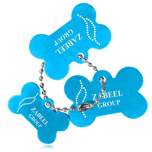 3 Bone Shaped Dog Tag