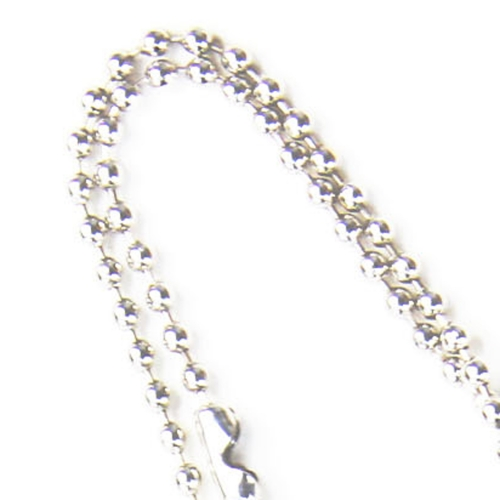 Neck Ball Chain Rectangle Dog Tag