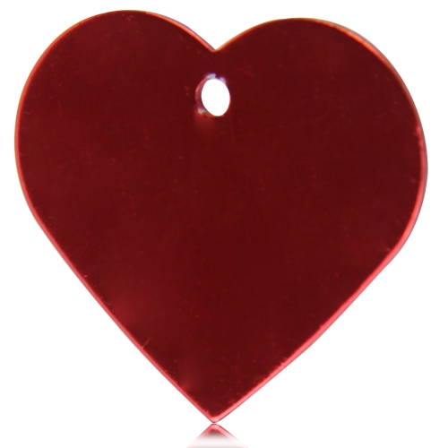Anodized Heart Shaped Dog Tag