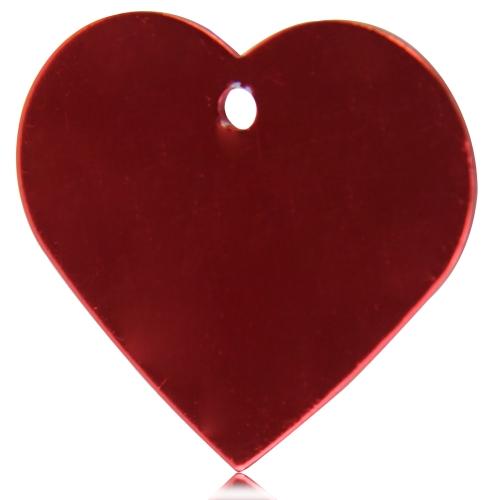 Anodized Heart Shaped Dog Tag