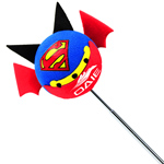 Superman Antenna Topper Ball