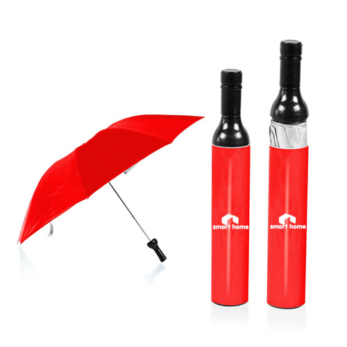 Three Folding Wine Bottle Umbrella