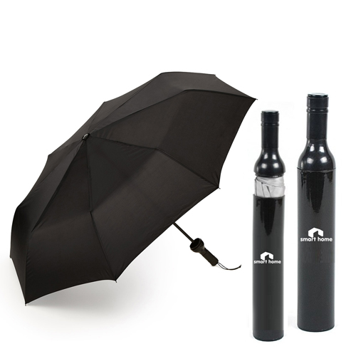 Three Folding Wine Bottle Umbrella Image 1