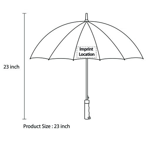 16 Panel Straight Umbrella