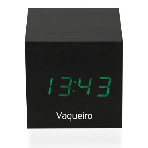 Wooden Cube Alarm Clock Image 2