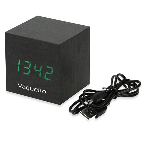 Wooden Cube Alarm Clock Image 3