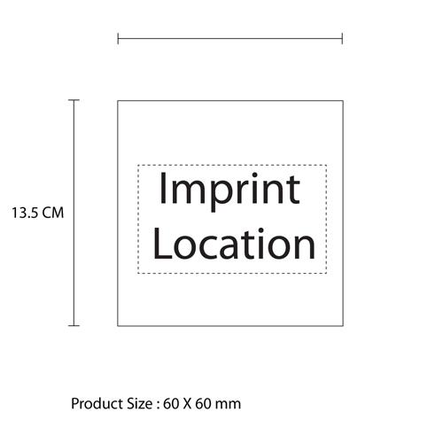 Wooden Cube Alarm Clock Imprint Image