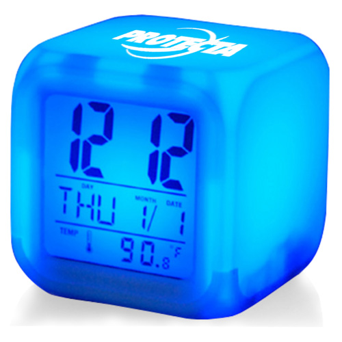 Glowing LED Digital Alarm Clock Image 2