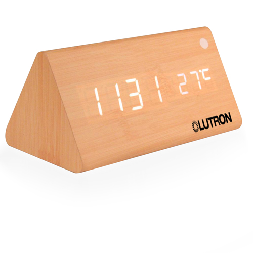 Triangle Wooden Digital Alarm Clock