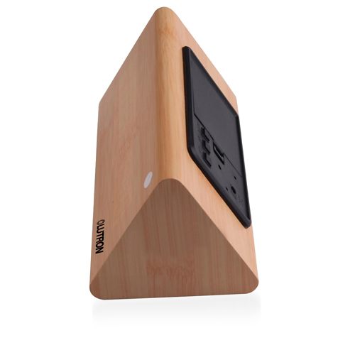 Triangle Wooden Digital Alarm Clock Image 5