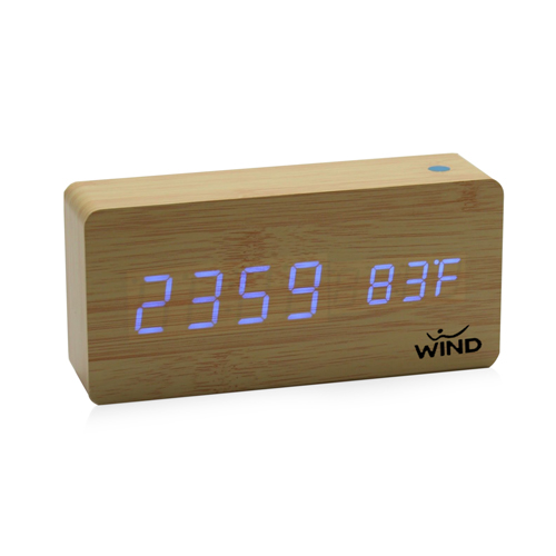 Rectangle Digital LED Wooden Clock
