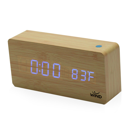 Rectangle Digital LED Wooden Clock Image 1