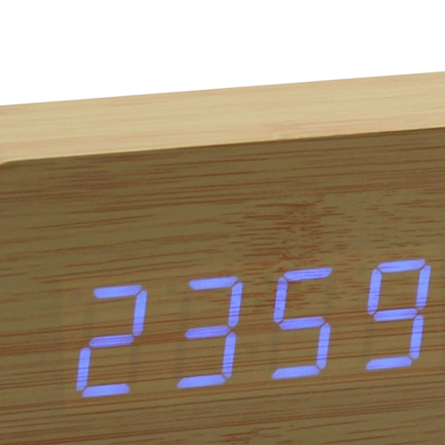 Rectangle Digital LED Wooden Clock Image 4