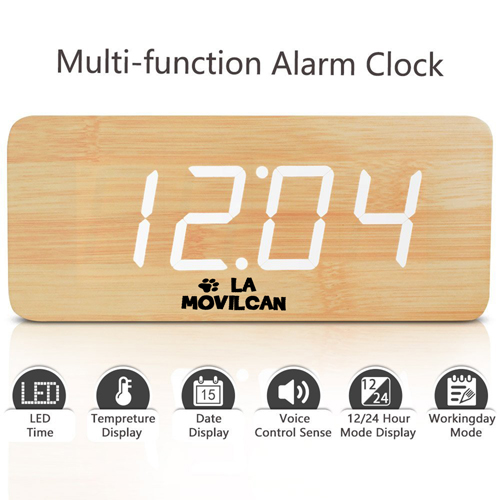 Modern Digital Desk Alarm Clock