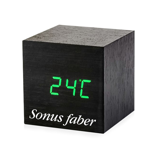 Cube Shaped Wooden Clock Image 1
