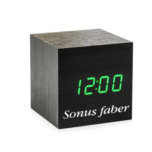 Cube Shaped Wooden Clock Image 2