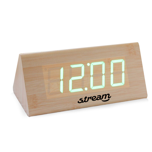 Triangle Wooden Digital Clock Image 2