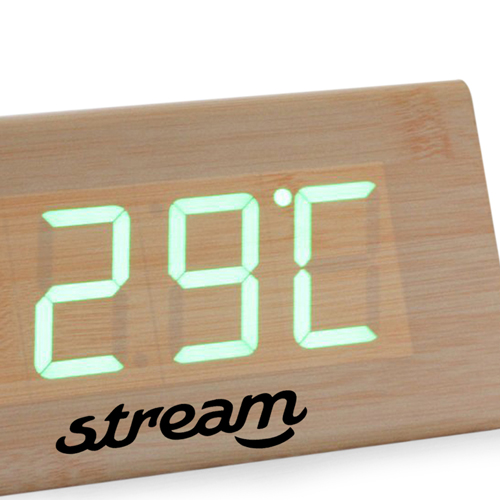 Triangle Wooden Digital Clock Image 4