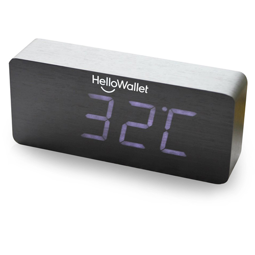 Rectangular Digital LED Wooden Clock Image 2