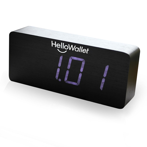Rectangular Digital LED Wooden Clock Image 3