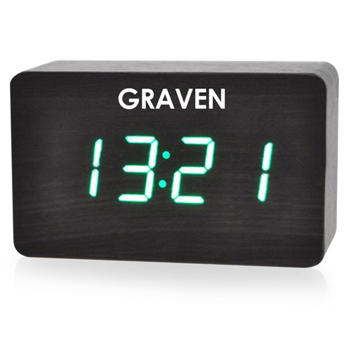 Modern Wooden Digital LED Clock