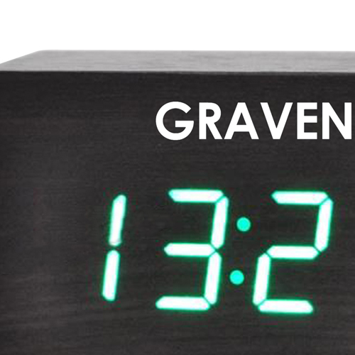Modern Wooden Digital LED Clock Image 6
